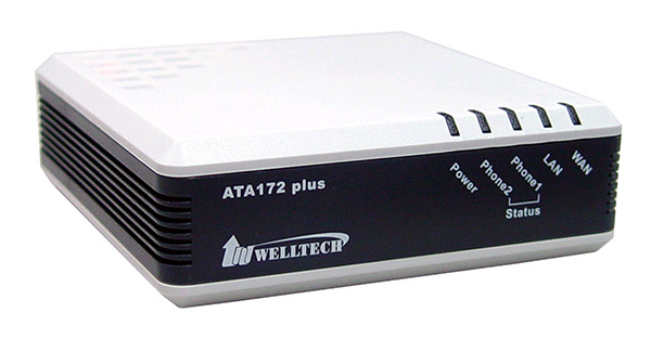 WELL ATA172 plus VoIP Gateway, 2xFXS port