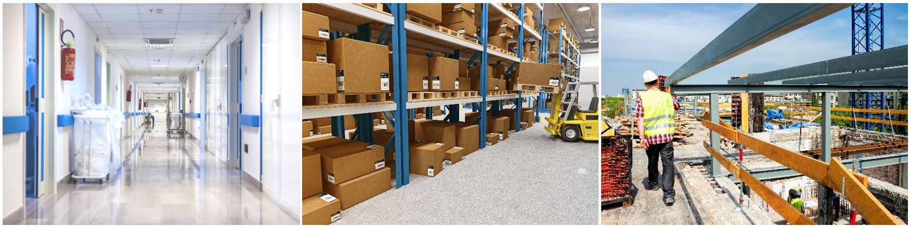 Systém WELL RTX využijete v nemocnicích, velkoskladu nebo i na stavbě