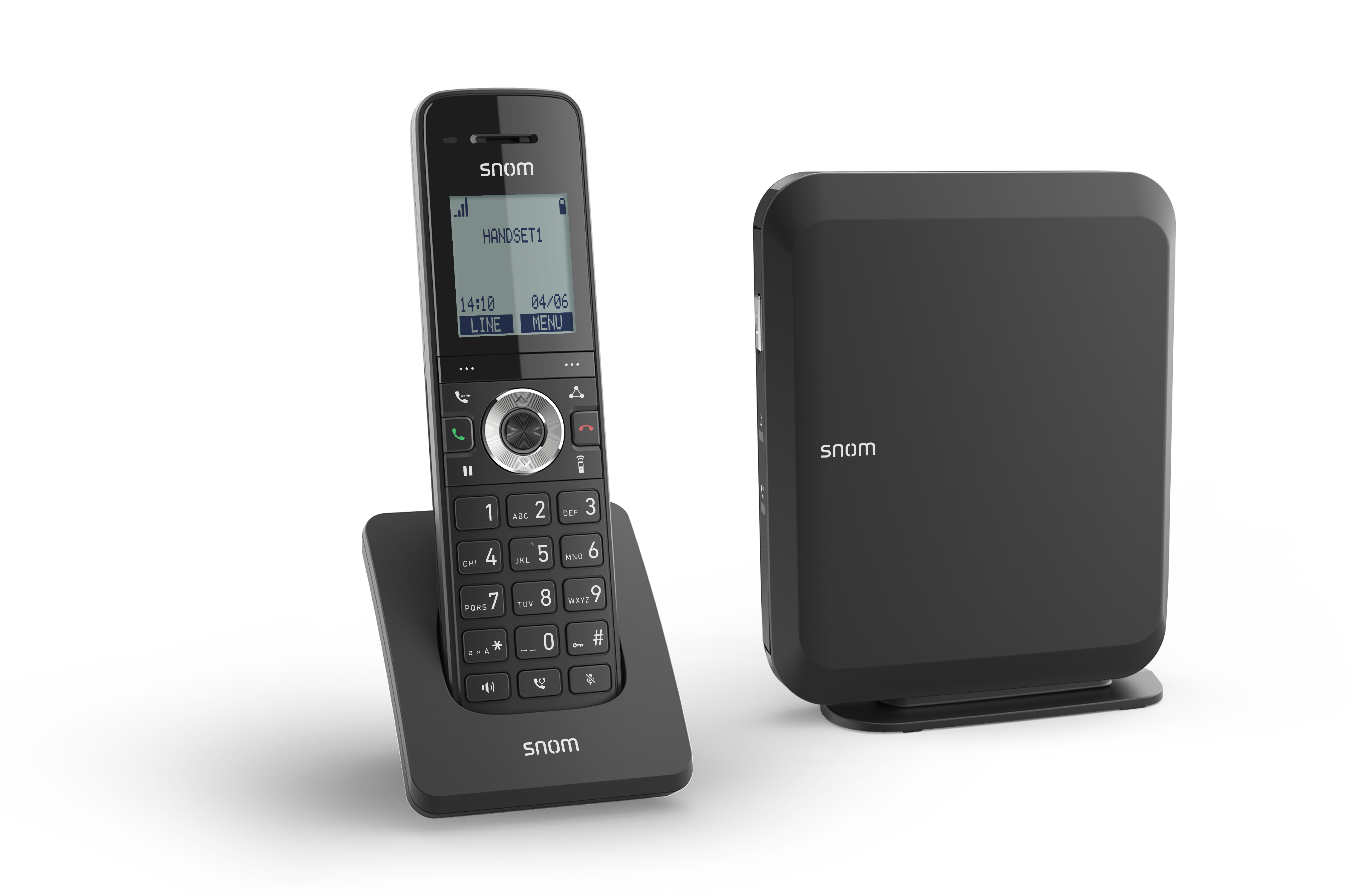 "SNOM M215 SC IP DECT báze+ručka, 1,7"" LCD, až 6 ruček"