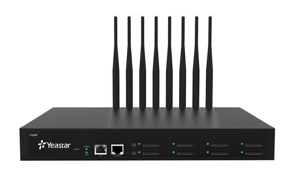 Yeastar NeoGate TG800, IP GSM Brána, 8xGSM port, 1xLAN