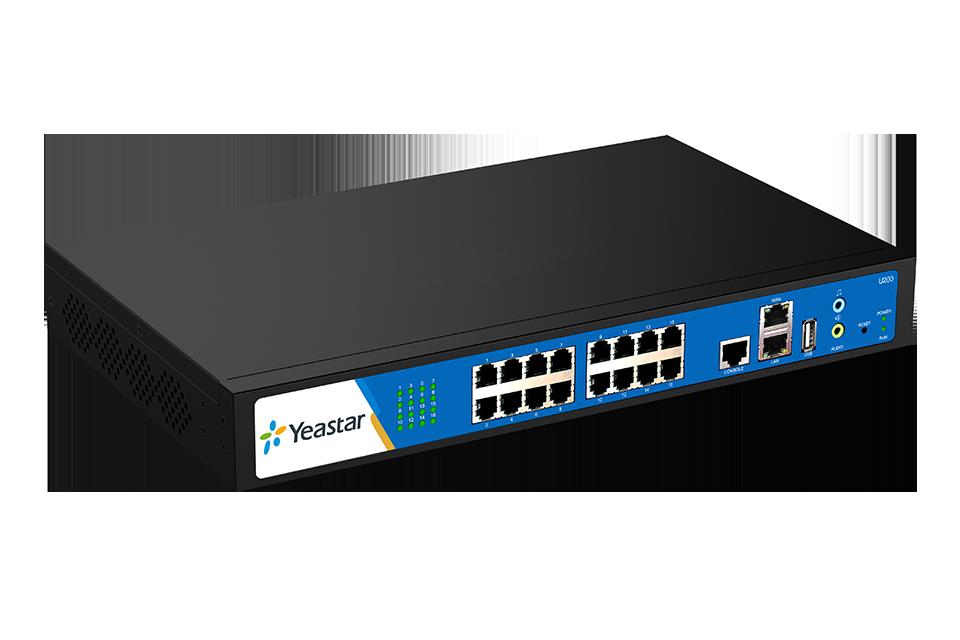 Yeastar MyPBX U200, 200 uživatelů, 50 hovorů , až 16 portů pro GSM, FXS, FXO a BRI, USB, rack provedení