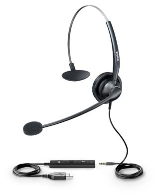 Yealink YHS33-USB, náhlavka, jednoušní