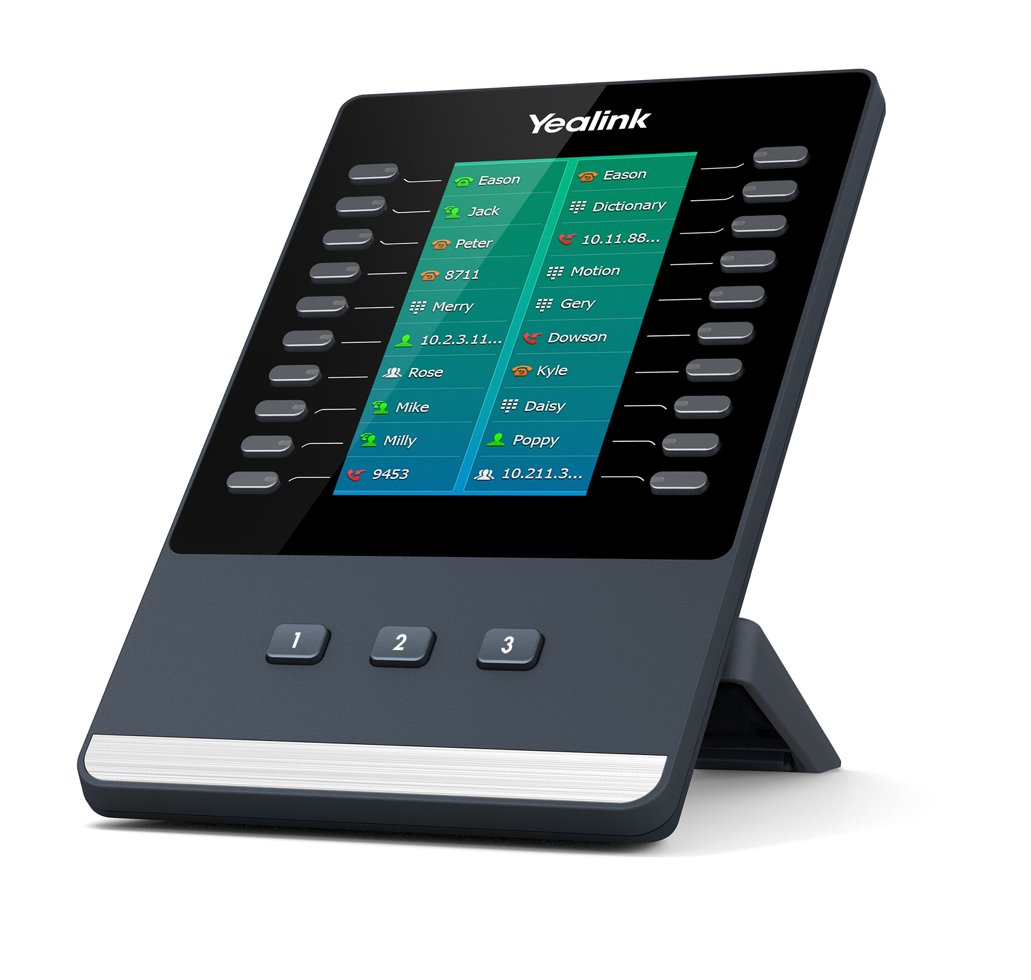 Yealink EXP50, exp. modul s LCD, 60 tl., k tel. T5X
