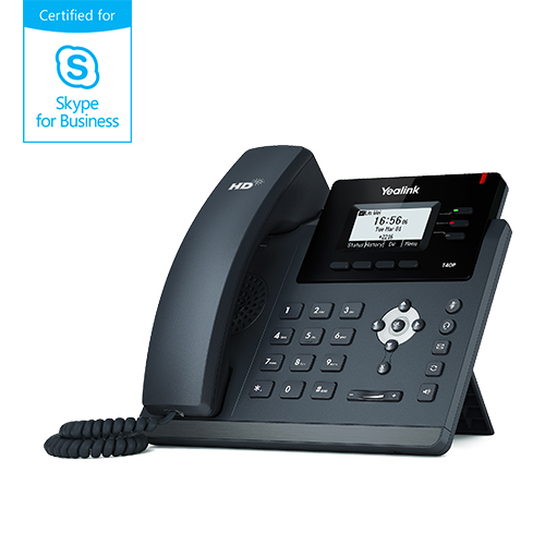 "Yealink SIP-T40P IP tel., PoE, 2,3"" 132x64 LCD, 3 prog.tl., Skype for Business"