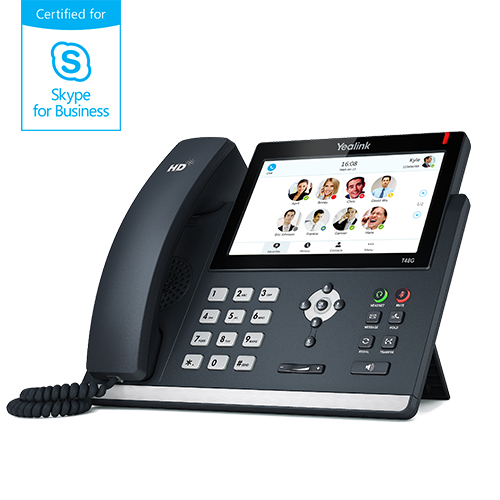 "Yealink SIP-T48G IP tel., PoE, 7"" bar. dotykový LCD, 29 prog.tl., GigE, Skype for Business"