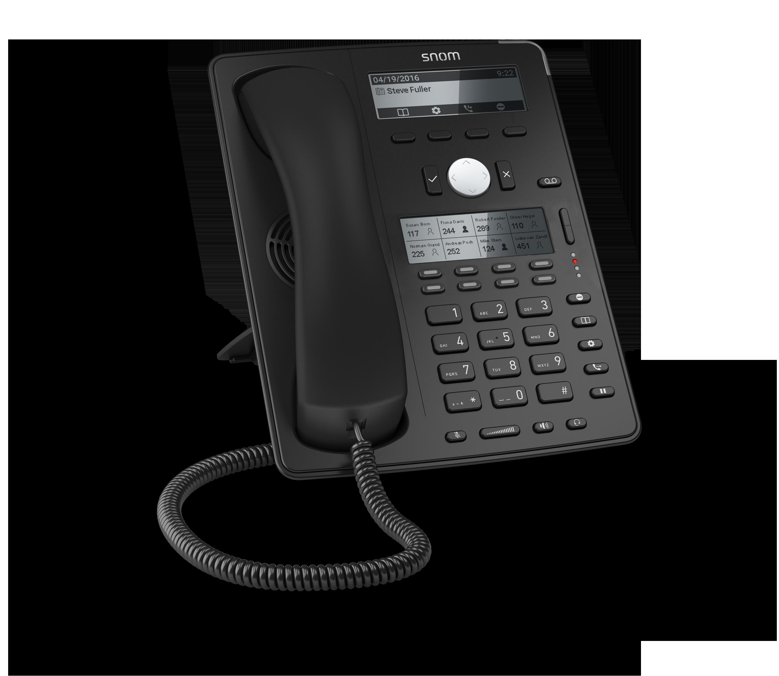 SNOM D745 IP tel., PoE, dual LCD, 8 (32) prog. tl., GigE