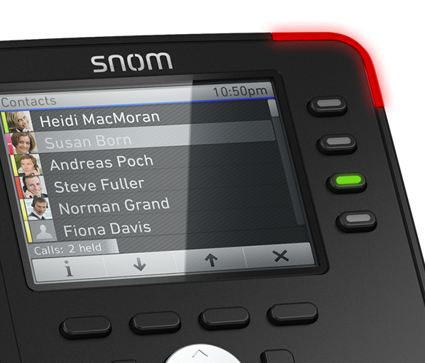 IP telefony Snom