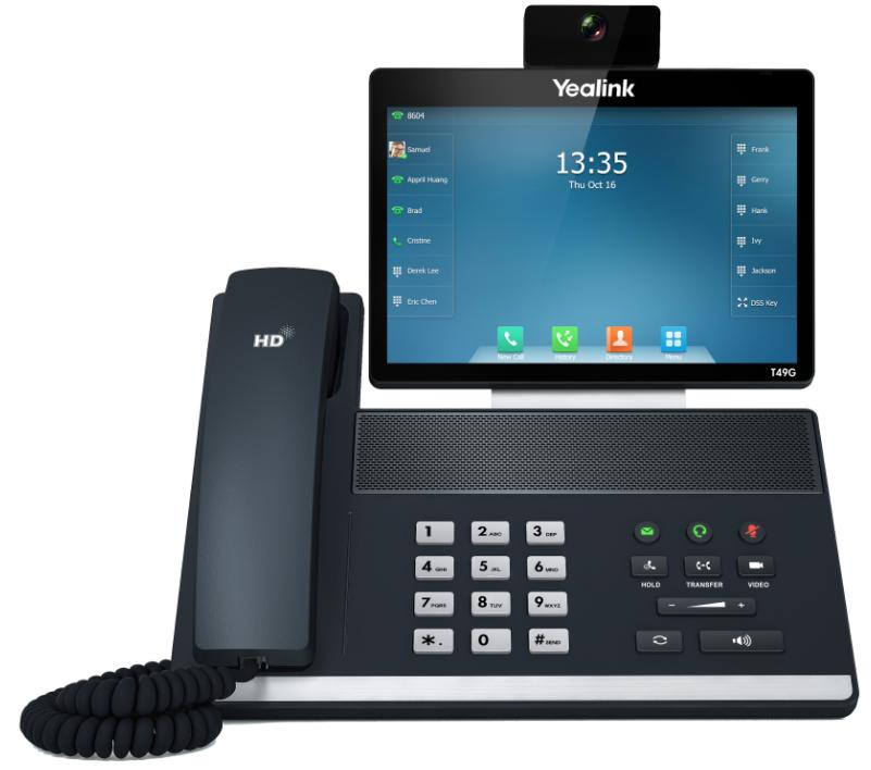 "Yealink SIP VP-T49G IP tel., 8"" bar. LCD, 29 prog. tl., GigE"