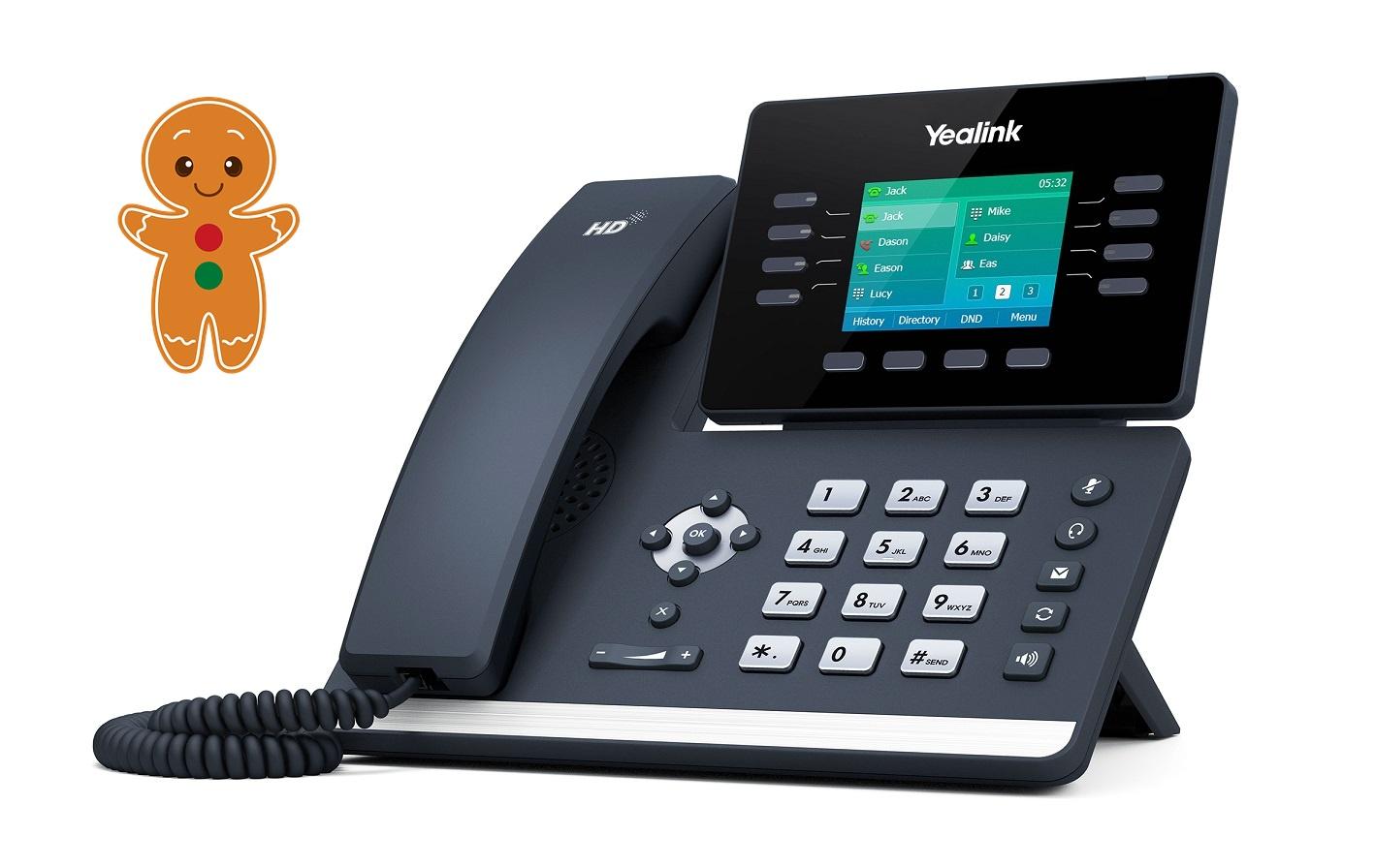 "Yealink SIP-T52S, IP tel., PoE, 2,8"" bar. LCD, 10 prog. tl., GigE"