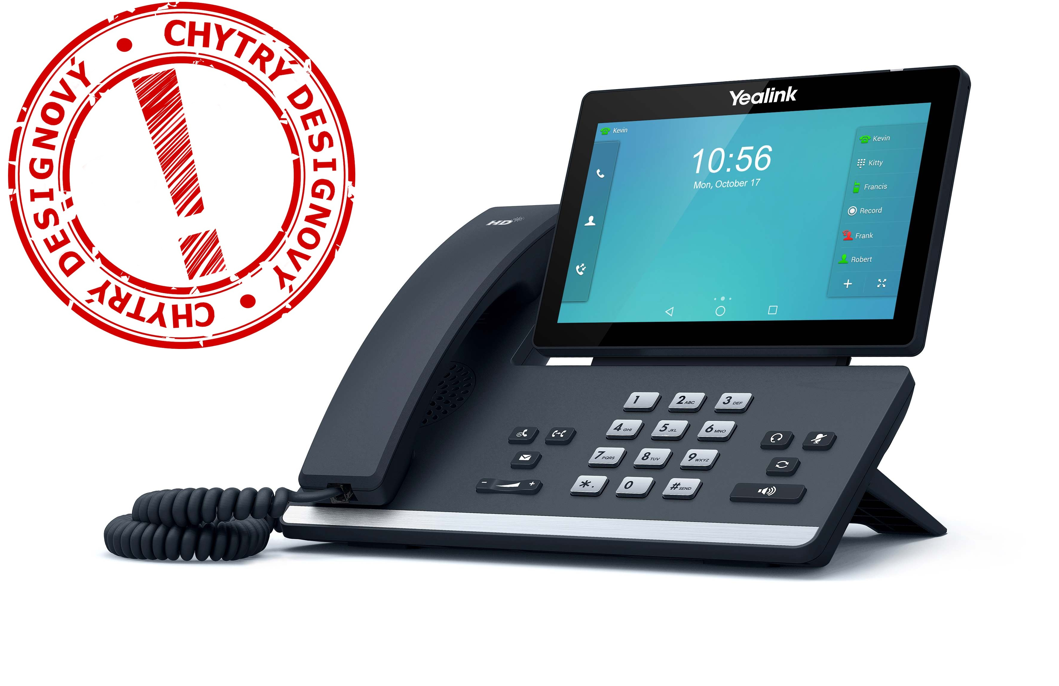 "Yealink SIP-T56A IP tel., PoE, 7"" bar. LCD, 27 prog. tl.GigE"