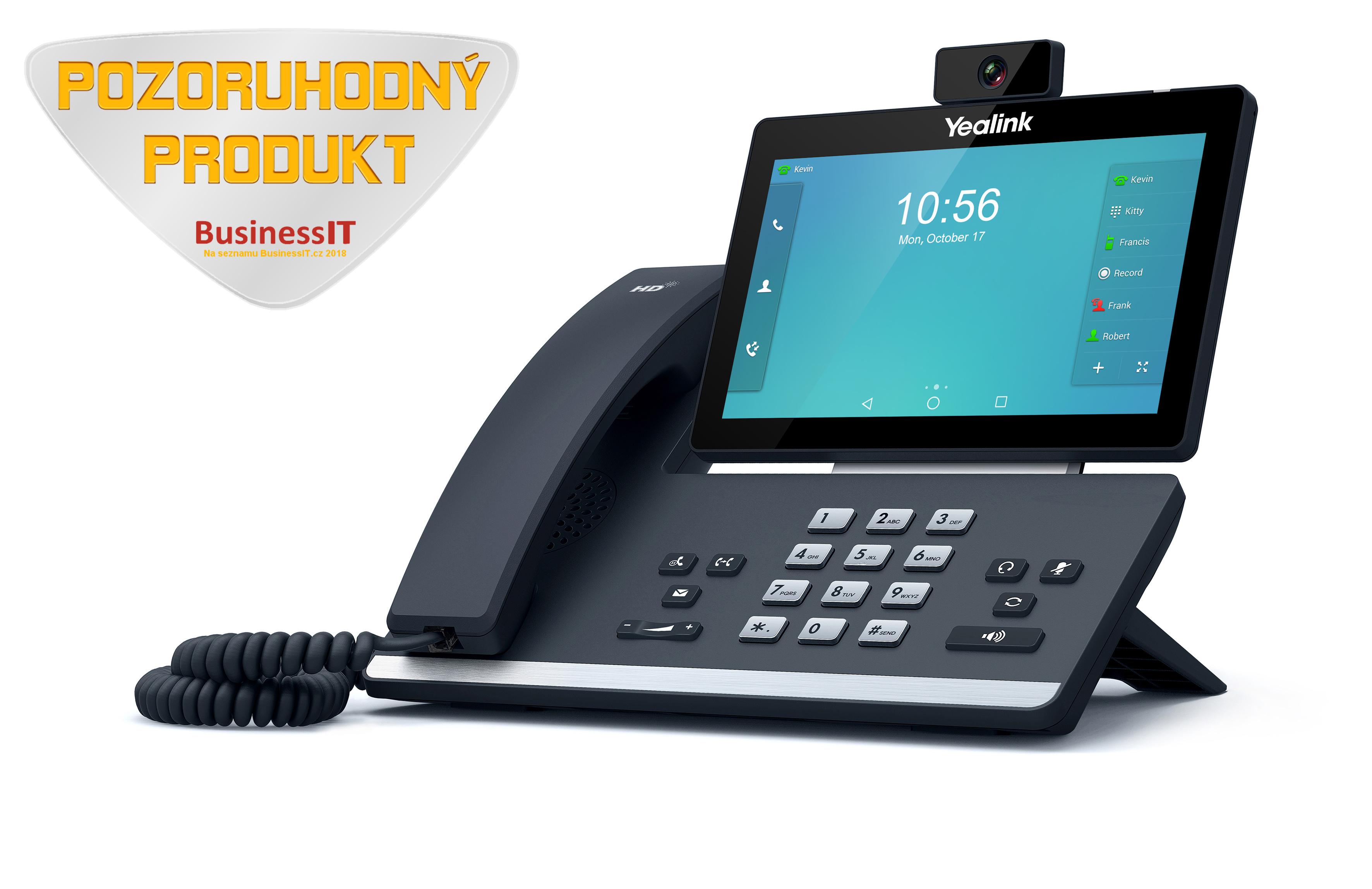 """Yealink SIP-T58V IP tel., PoE, 7"""" bar. LCD, 27 prog. tl.GigE"""