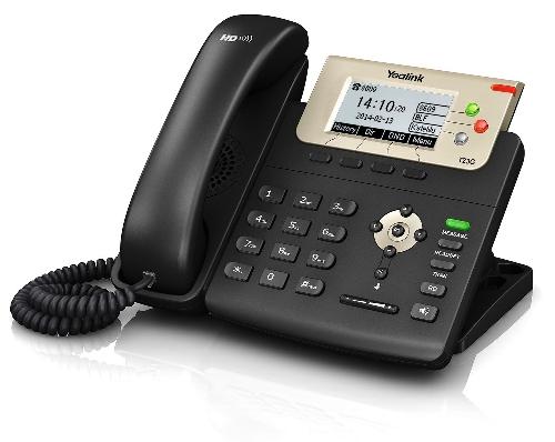 """Yealink SIP-T23G IP tel.,PoE,2,8"""" 132x64 LCD,3 prog.tl.,GigE"""