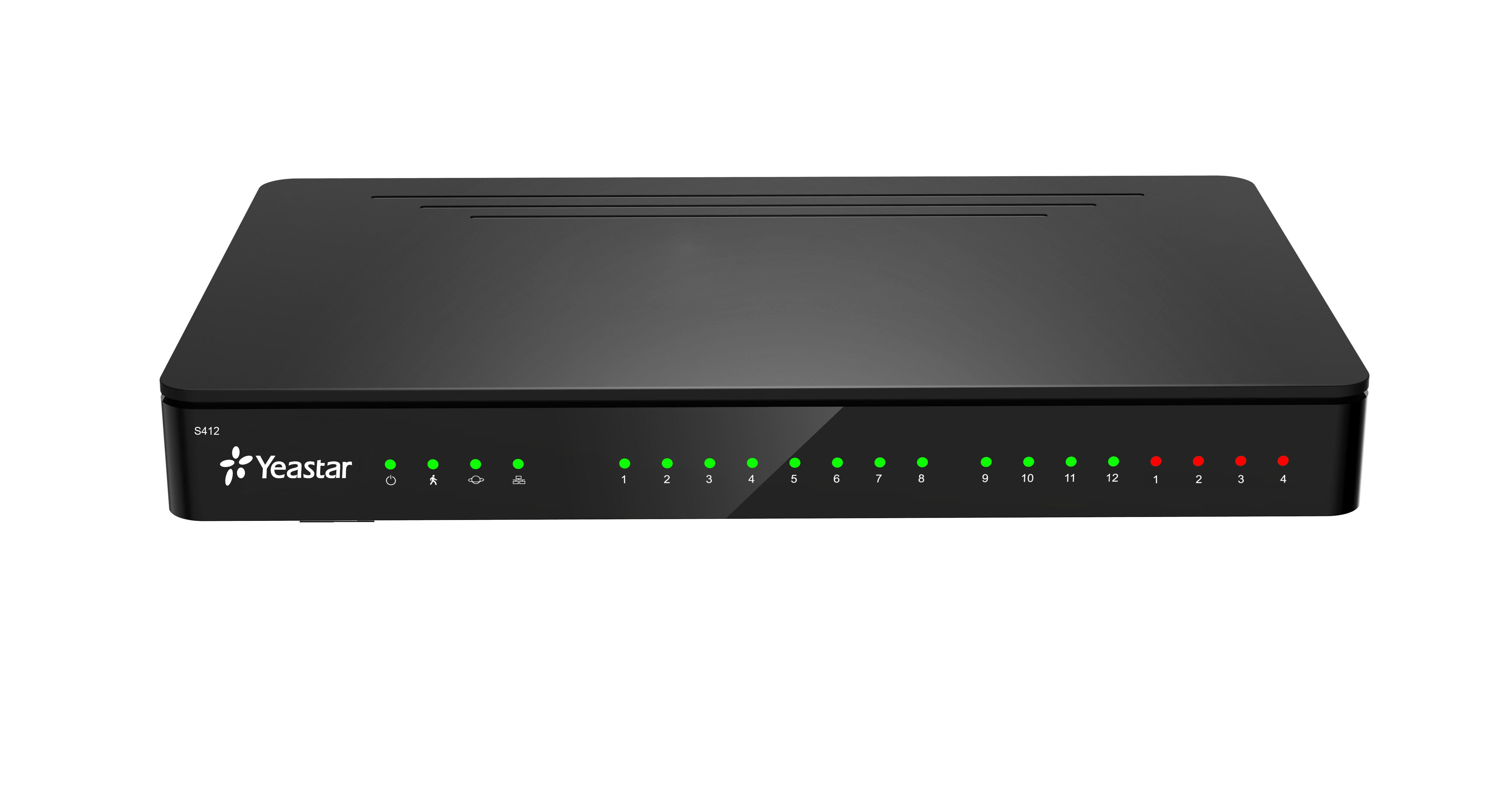 Yeastar S412, 8 FXS portů, 8 SIP účtů, 4 trunky