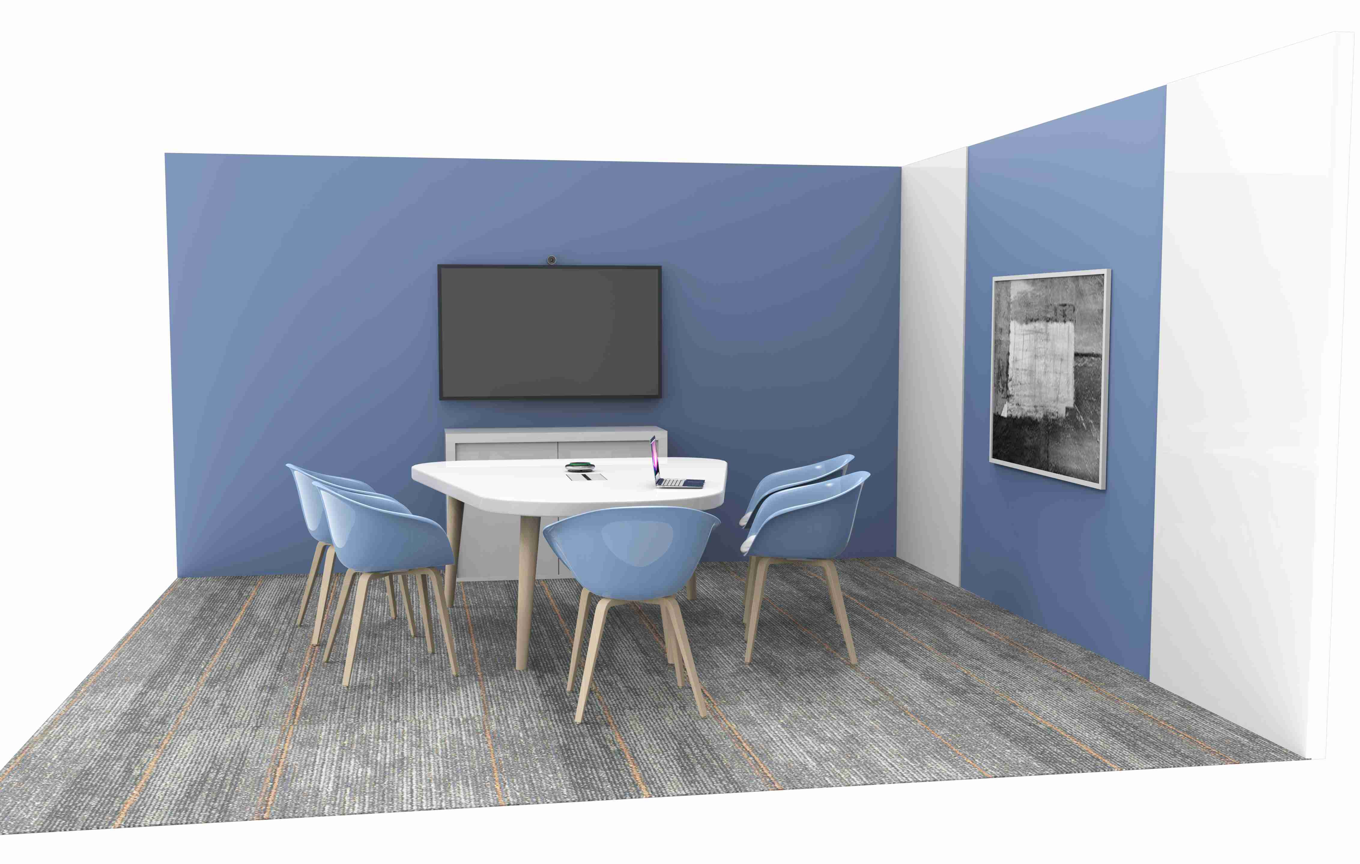 schéma místnosti videokonferenční sada