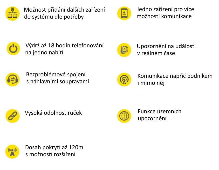 Bezdrátový telefon Vocovo - vlastnosti