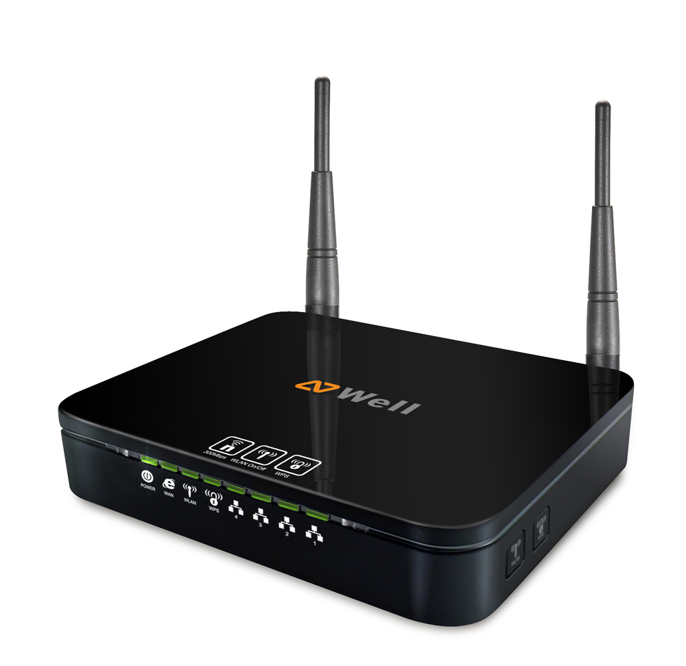 WELL WRC7010N - WiFi n Router 300Mb 2,4GHz, 2x 3dBi fixní