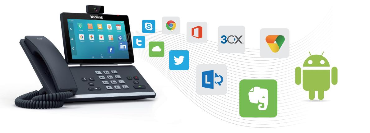 Yealink telefony T5x OS Android