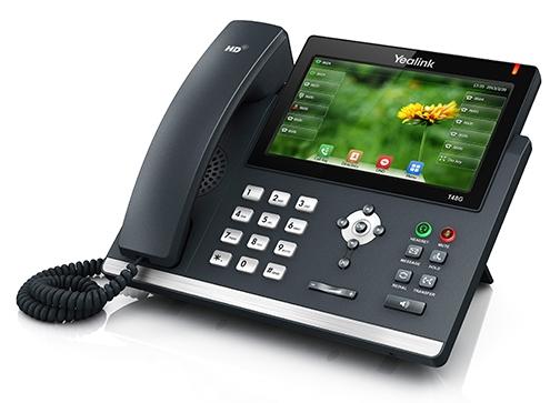 "Yealink SIP-T48G IP tel., PoE, 7"" bar. dotykový LCD, 29 prog.tl., GigE"