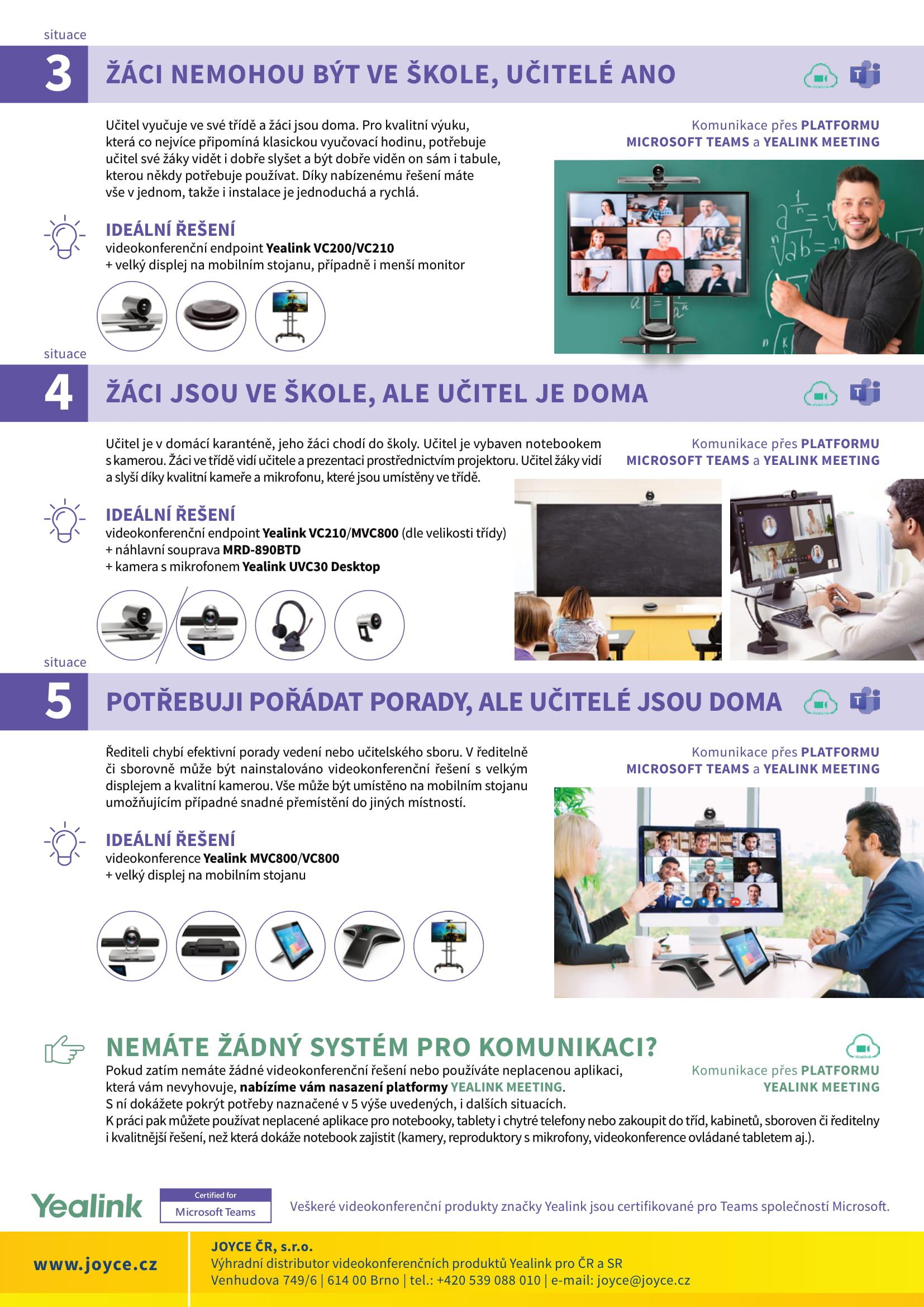 Videokonference do škol
