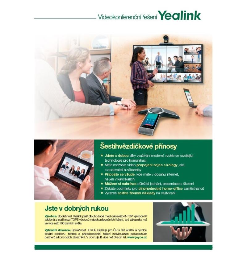 Leták Videokonfererence Yealink