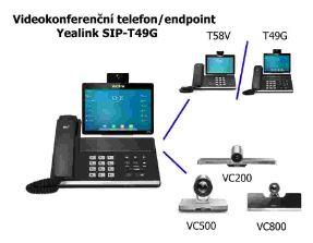 Videokonferenční telefon/endpoint Yealink T49G