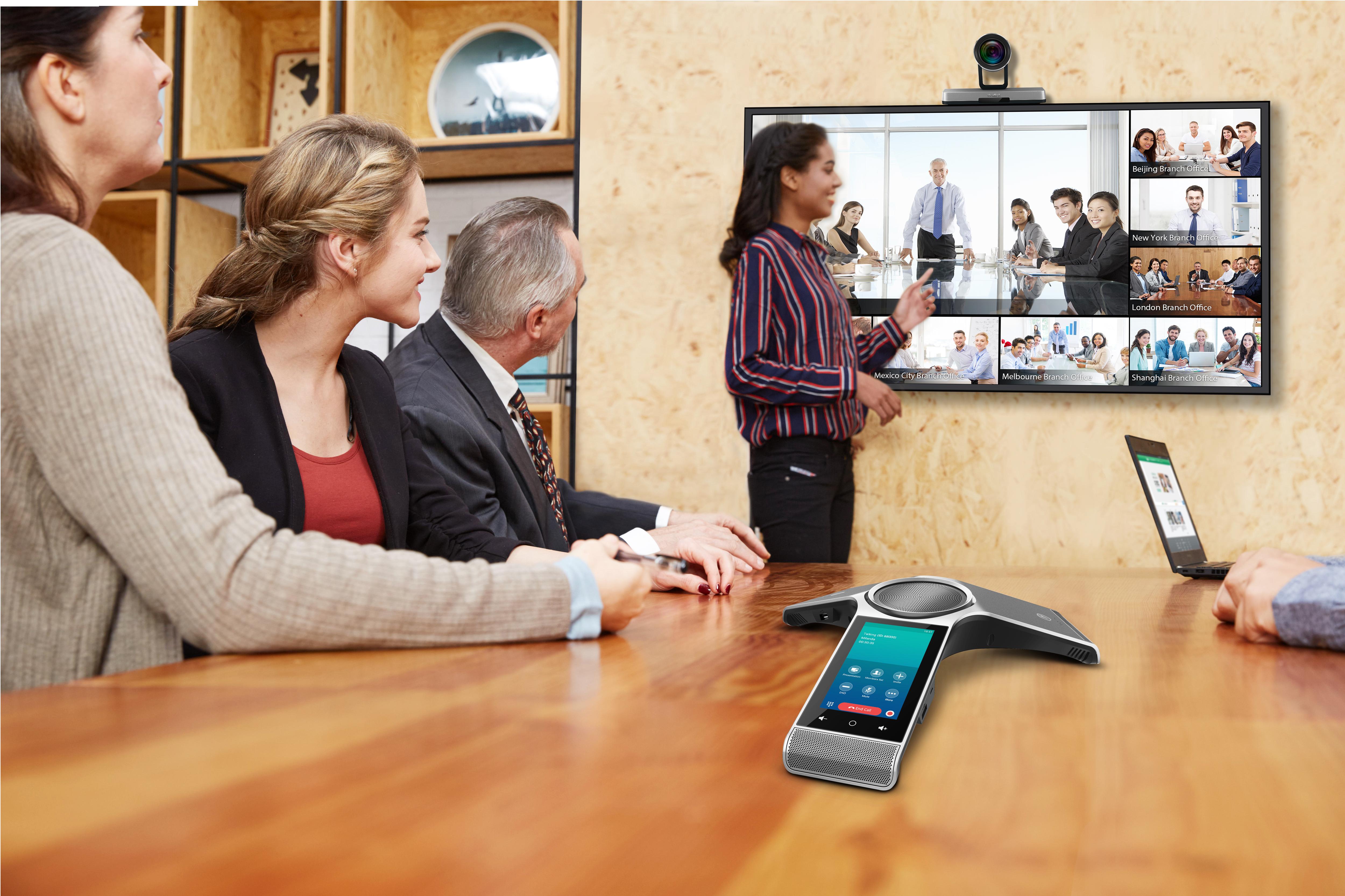Video o videokonferenčním řešení Yealink