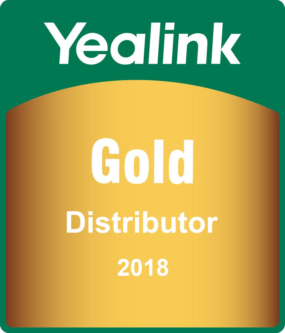 Ocenění Gold Distributor Yealink 2018