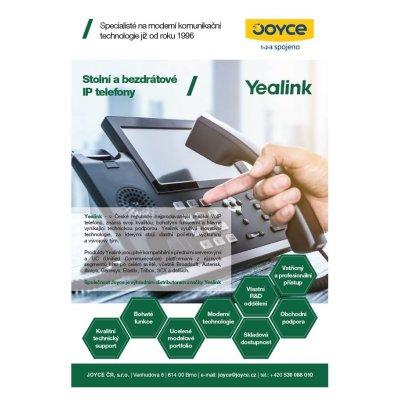 Leták IP telefony Yealink
