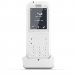 """SNOM M90, IP DECT ručka, bílá, pro M900 a M700, antibakteriální povrch, 2"""" bar. LCD, 8. tl. rychlé volby, IP65"""
