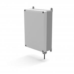 SNOM M900 outdoor IP DECT báze + venkovní housing, šedá, PoE, buňkové řešení, až 4 000 ruček a 1 000 bází, krytí IP55