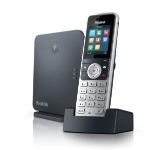 """Yealink W53P, IP DECT báze+ručka, PoE, 1,8"""" bar.disp., až 8 ruček"""