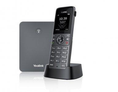 """Yealink W73P, IP DECT báze+ručka, PoE, 1,8"""" bar.disp., až 10 ruček"""