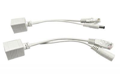 PoE pasivní - sada kabelů (injector a splitter)