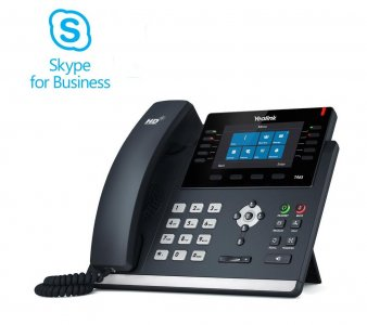 "Yealink T46S IP tel., PoE, 4,3"" bar. LCD, 27 prog.tl., GigE, Skype for Business"