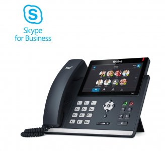 "Yealink T48S IP tel., PoE, 7"" bar.LCD, 29 prog.tl., GigE, Skype for Business"