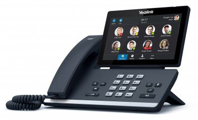 """Yealink T56A IP tel., PoE, 7"""" bar. LCD, 27 prog. tl.GigE, Skype for Business"""