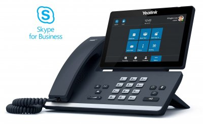 "Yealink T56A IP tel., PoE, 7"" bar. LCD, 27 prog. tl.GigE, Skype for Business"