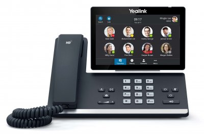"""Yealink T58A IP tel., PoE, 7"""" bar. LCD, 27 prog. tl.GigE, Skype for Business"""
