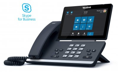 "Yealink T58A IP tel., PoE, 7"" bar. LCD, 27 prog. tl.GigE, Skype for Business"