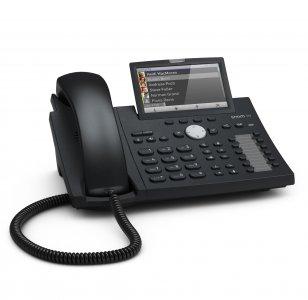 "SNOM D375 IP tel., PoE, 4,3"" LCD, 12 prog. Tl., GigE"