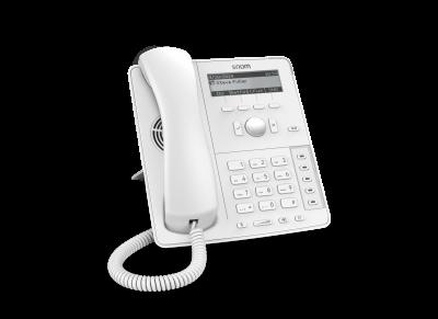 "SNOM D715 IP tel., PoE, 3,2"" LCD, 5 prog. tl., GigE, bílý"