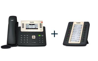 "Yealink SIP-T27G + EXP20, IP tel., PoE, 3,66"" 240x120 LCD, 21 prog.tl. + exp. modul s LCD, 20 tl., k tel. T27/T29G"