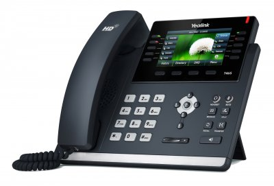 "Yealink SIP-T46S IP tel., PoE, 4,3"" bar. LCD, 27 prog.tl., GigE"