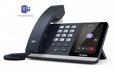 """Yealink T55A IP tel., PoE, 4,3"""" LCD, USB 2.0, GigE, Teams"""