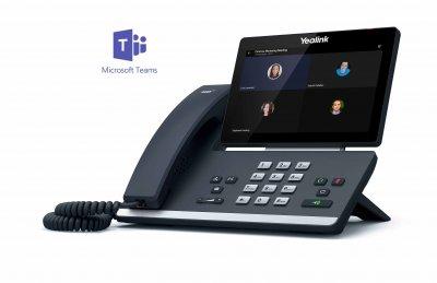 "Yealink T56A IP tel., PoE, 7"" bar. LCD, 27 prog. tl.GigE, Teams"
