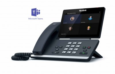 "Yealink T58A IP tel., PoE, 7"" bar. LCD, 27 prog. tl.GigE, Teams"