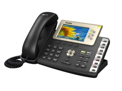 "Yealink SIP-T38G IP tel., PoE, 4,3"" bar. LCD, 16 prog.tl., GigE"