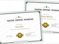 Naši technici jsou certifikováni na produkty Yestar!
